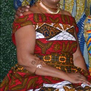 African Print Off Shoulder Midi Dress/African Clothing/African Fashion/Ankara Dress #afrikanischerstil