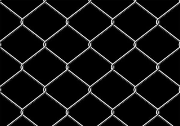 Metal Wire Chain Link Fence On Black Background Black Chain Link Fence Solid Black Background Black Backgrounds