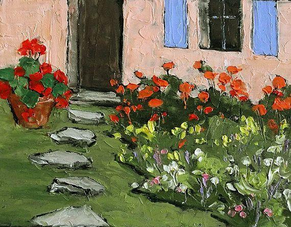 Impressionist painting provence plein air by - Piscine plein air aix en provence ...