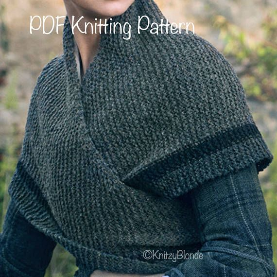 PDF Knitting Pattern Claire\'s Rent Shawl Outlander-Replica Triangle ...