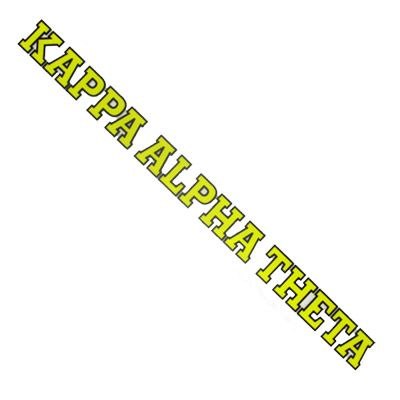 Kappa Alpha Theta Sorority Car Decal
