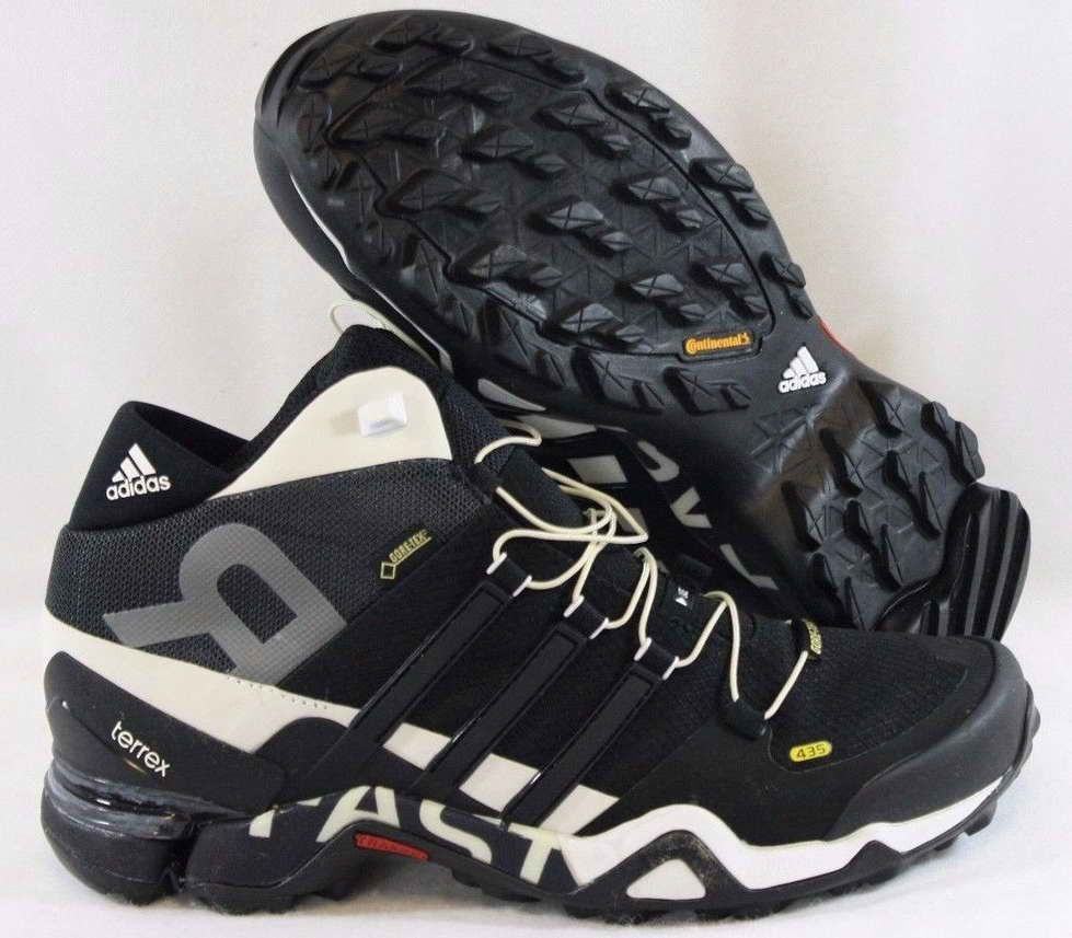 on sale 7bebc 25b07 new mens sz 9 adidas terrex fast r mid b44183 gore-tex black sneakers shoes