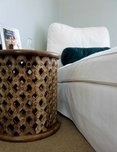 bamileke carved wood table from World Market