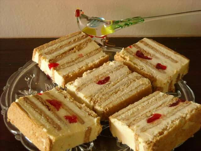 Tennis Biscuit Fridge Cake No Bake Ingredients 3 Pkt Tennis Biscuit 2 Eggs African Dessert Sweet Tarts Fridge Cake