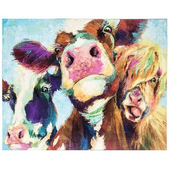 Painted Cows Wood Wall Decor in 2018 | Wall Art | Pinterest | Cow ...