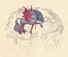 Drac'Ahrah  Dragon Unicorn by pegacorna2