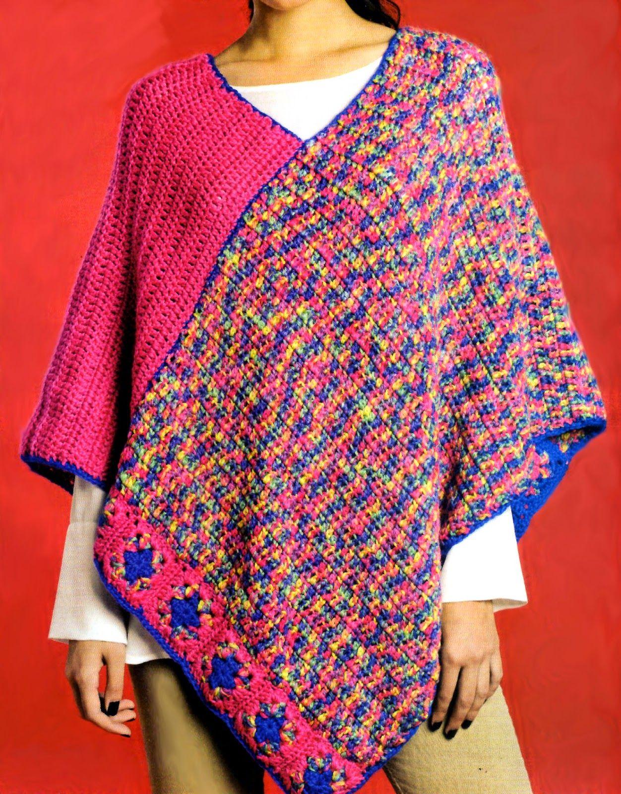 tejidos artesanales en crochet: poncho tejido en crochet | Crochet ...
