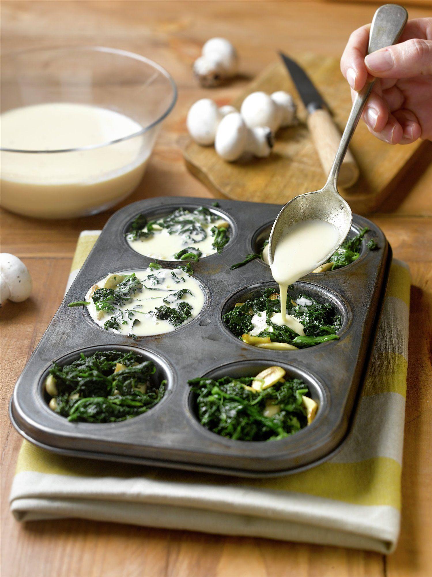 comidas con champiñones y verduras