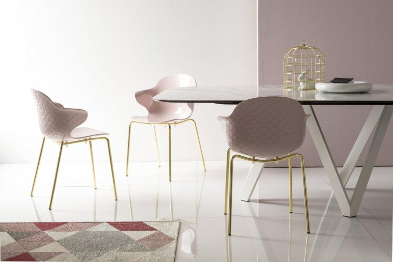 Pratelli Sedie ~ Sedia saint tropez ottone lucido e rosa cipria sedie moderne