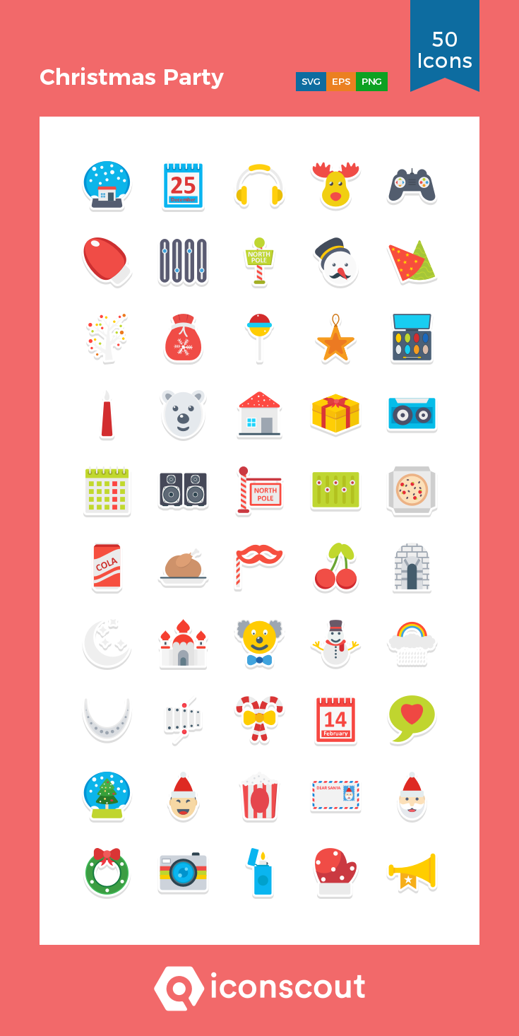 Download Christmas Party Icon Pack Available In Svg Png Eps Ai Icon Fonts Party Icon Christmas Party Christmas Vectors