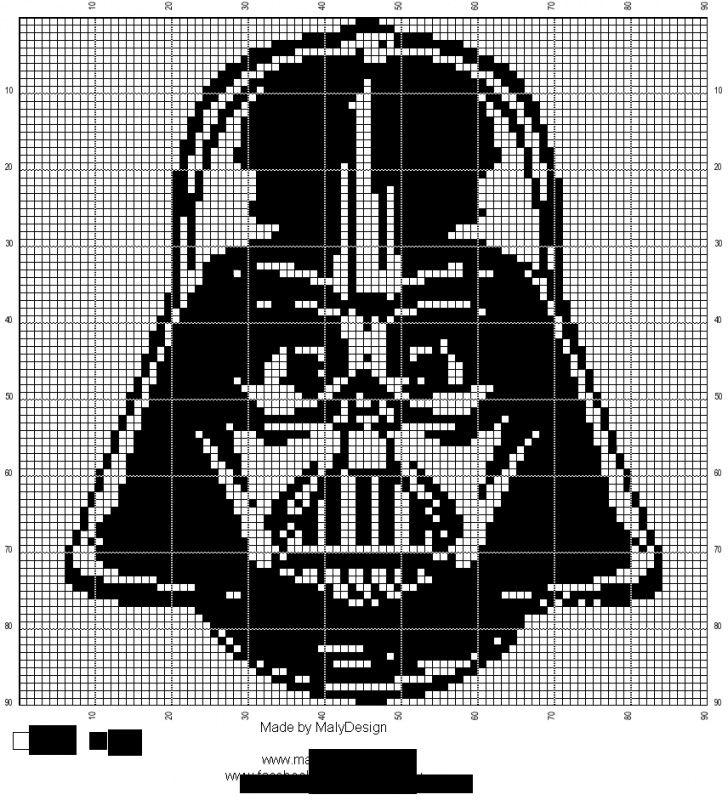 Haak En Borduurpatroon Darth Vader Star Wars Crochet