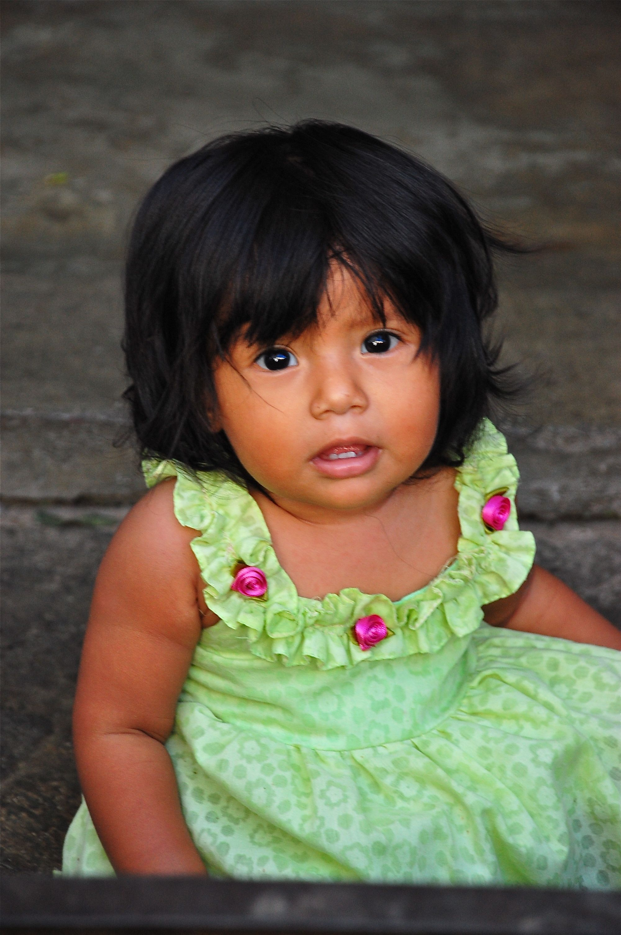 Beautiful little girl at Market day in Pochutla, Mexico.