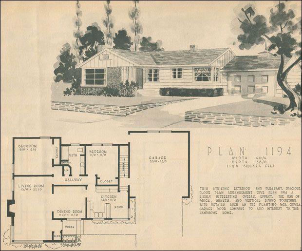 731e85df2742b46a1b16aaa37feafa73 1950 home building plan service vintage home&fashion,1950 Ranch House Plans