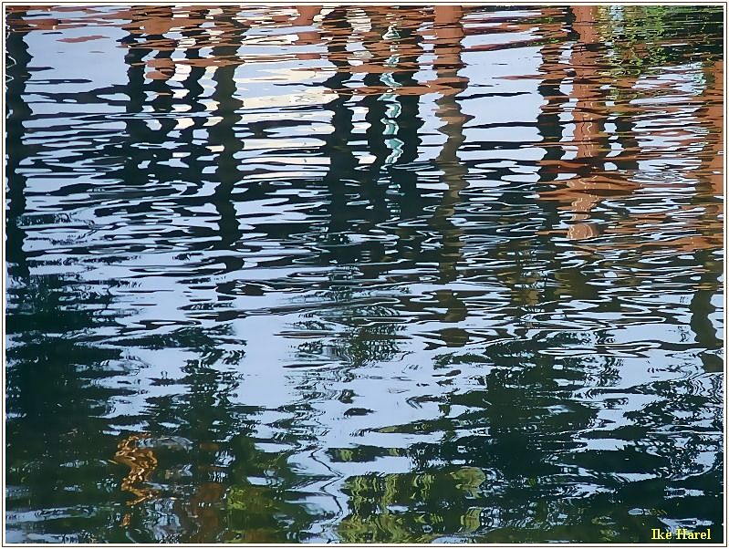 This Photo From Tel Aviv Tel Aviv Is Titled Calm Water Reflection Water Reflection Photography Water Reflections River Photography