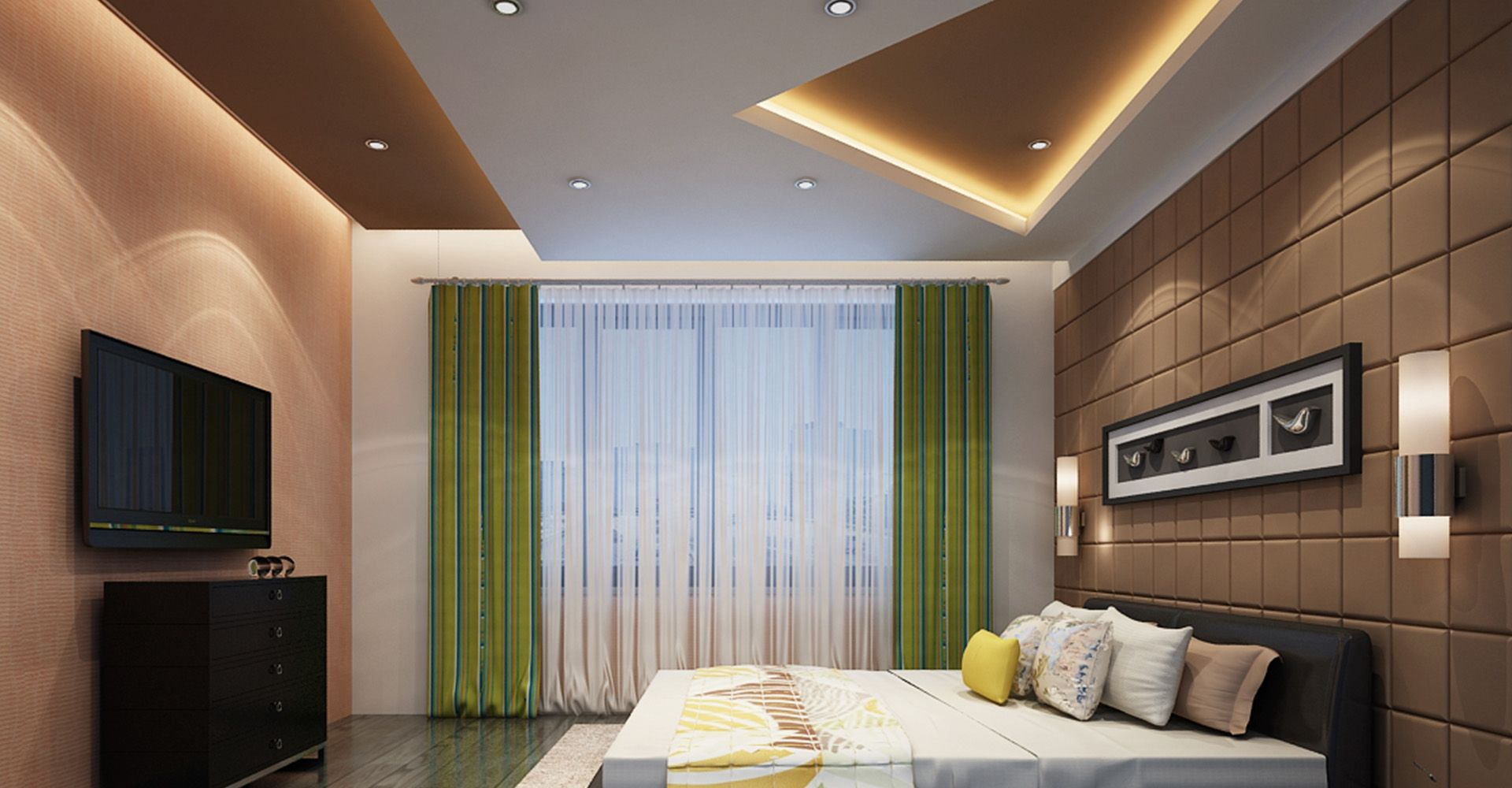 Master bedroom gypsum ceiling  Bedroom False Ceiling Ideas  Bedroom Ideas  Pinterest  False