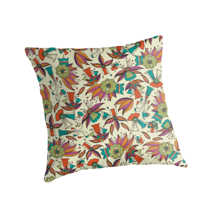 abstract floral pattern design by Somberlain