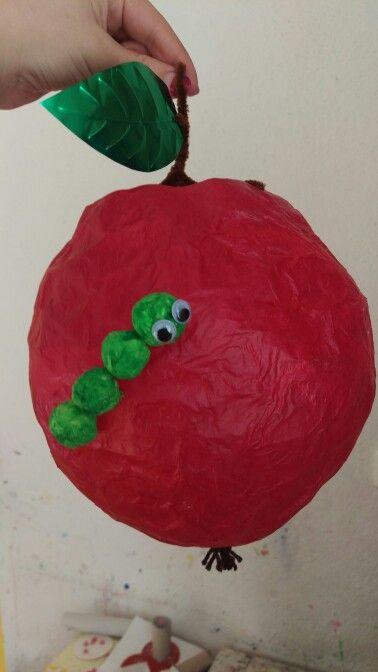 Apfel laterne basteln pinterest laternen apfel und raupe - Raupe basteln kindergarten ...