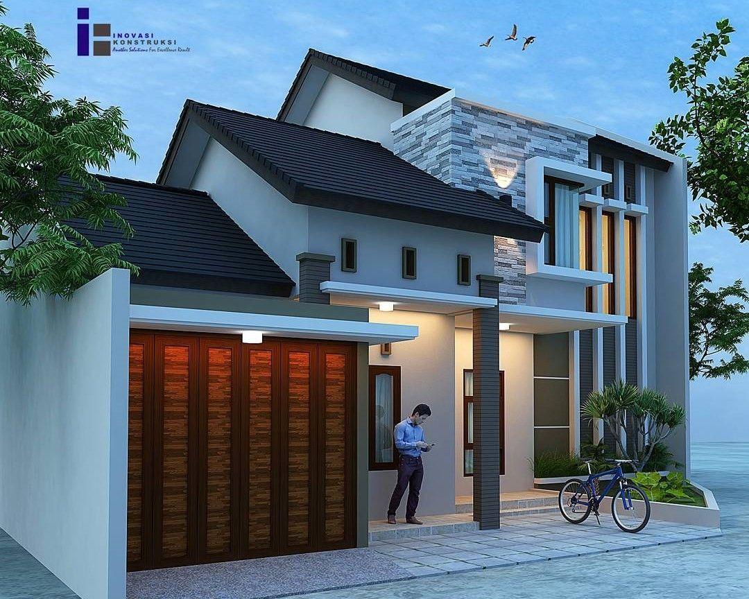 Desain Rumah 2 Lantai Kolam Renang