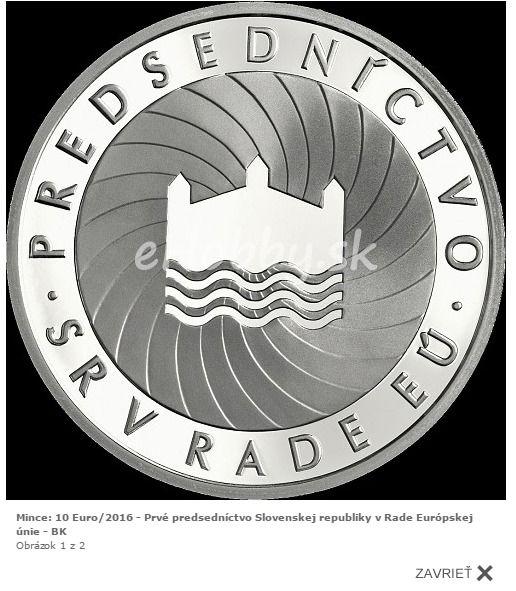 Nezabúdajte sledovať novinky na našej stránke. V ponuke je strieborná zberateľská minca nominálnej hodnoty 10 eur - Prvé predsedníctvo Slovenskej republiky v Rade Európskej únie. https://goo.gl/Ulg5Ti