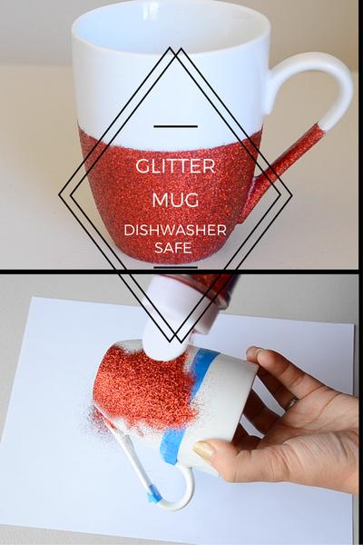 DIY | How to Make a Glitter Mug (Dishwasher Safe)
