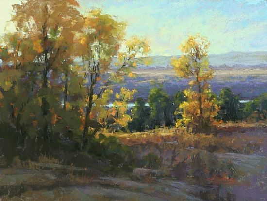 Above the Platte by Kim Lordier Pastel