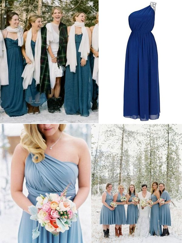 Trendy Bridesmaid Dresses For Christmas Holiday Winter Wedding 2013