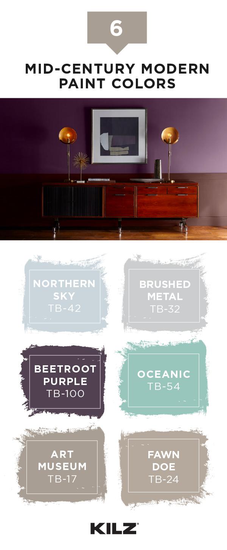 Bedroom Color Combinations In 2020 Modern Living Room Colors Mid Century Modern Colors Midcentury Modern