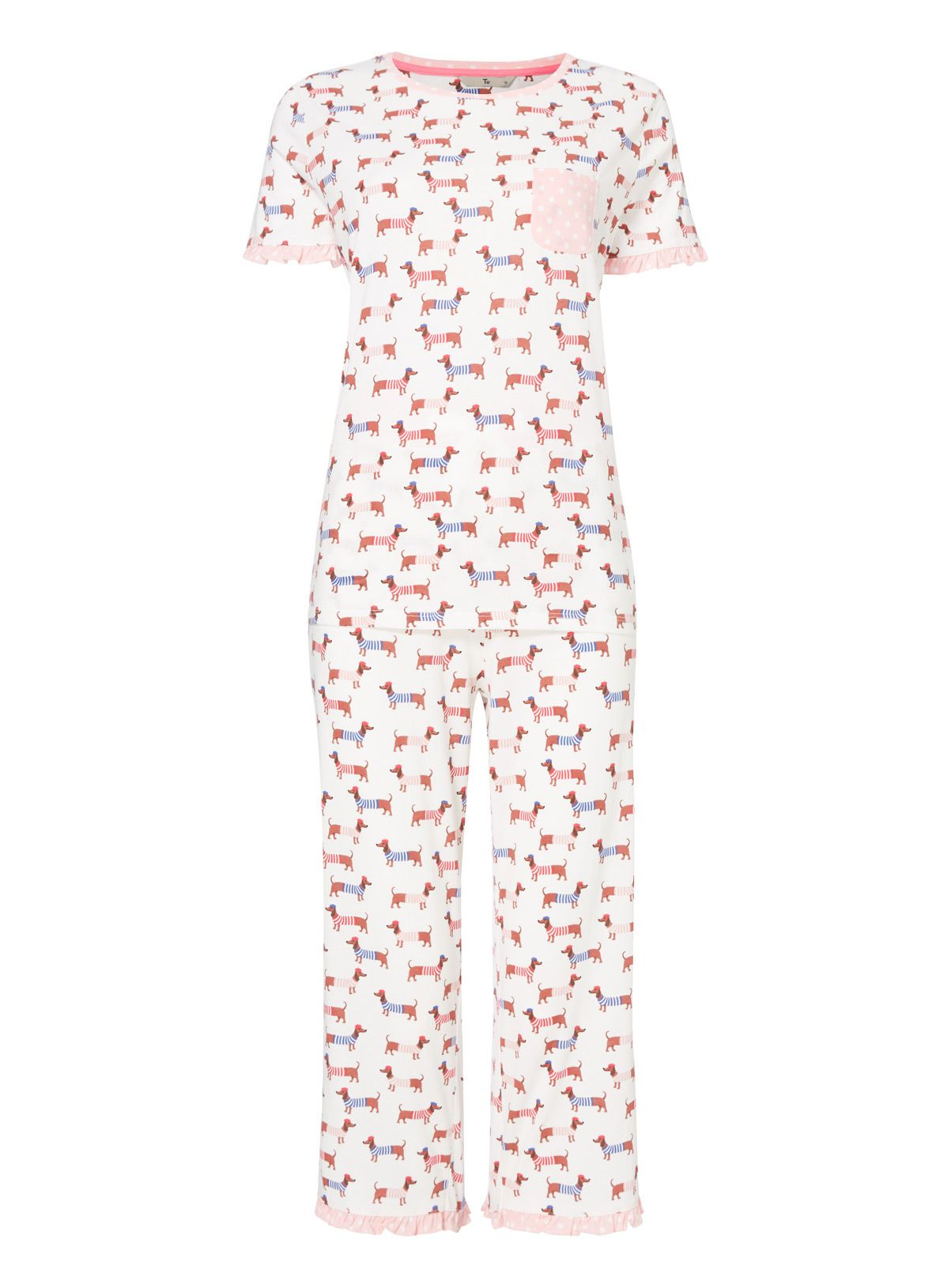 Cute and playful, this pure cotton pyjama set is a fun addition to ...