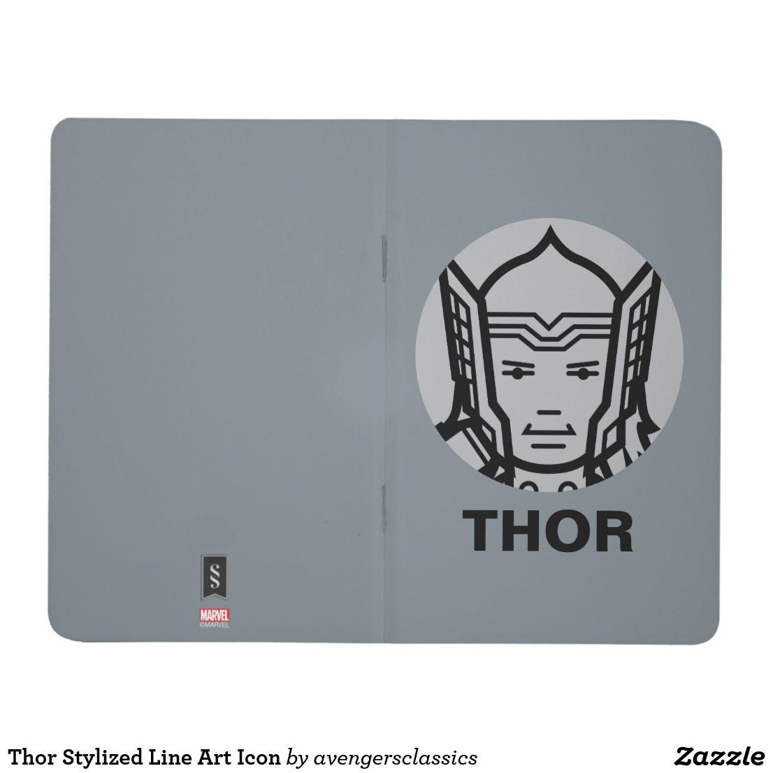 Thor Stylized Line Art Icon