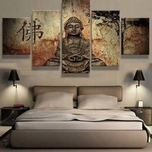 Buddha Canvas Art Print Large Wall