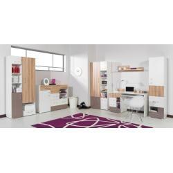 Chambre de la jeunesse complète – Set A Lian, 6 Pièces, Brun Clair / Blanc / Cappuccino Ste …  – Products