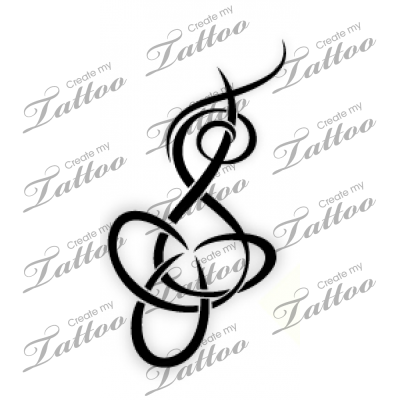 Intertwined Letters T And S T And S Design With Trinity Knot 58423 Createmytattoo Com Tattoo Lettering Tattoo Designs Create My Tattoo