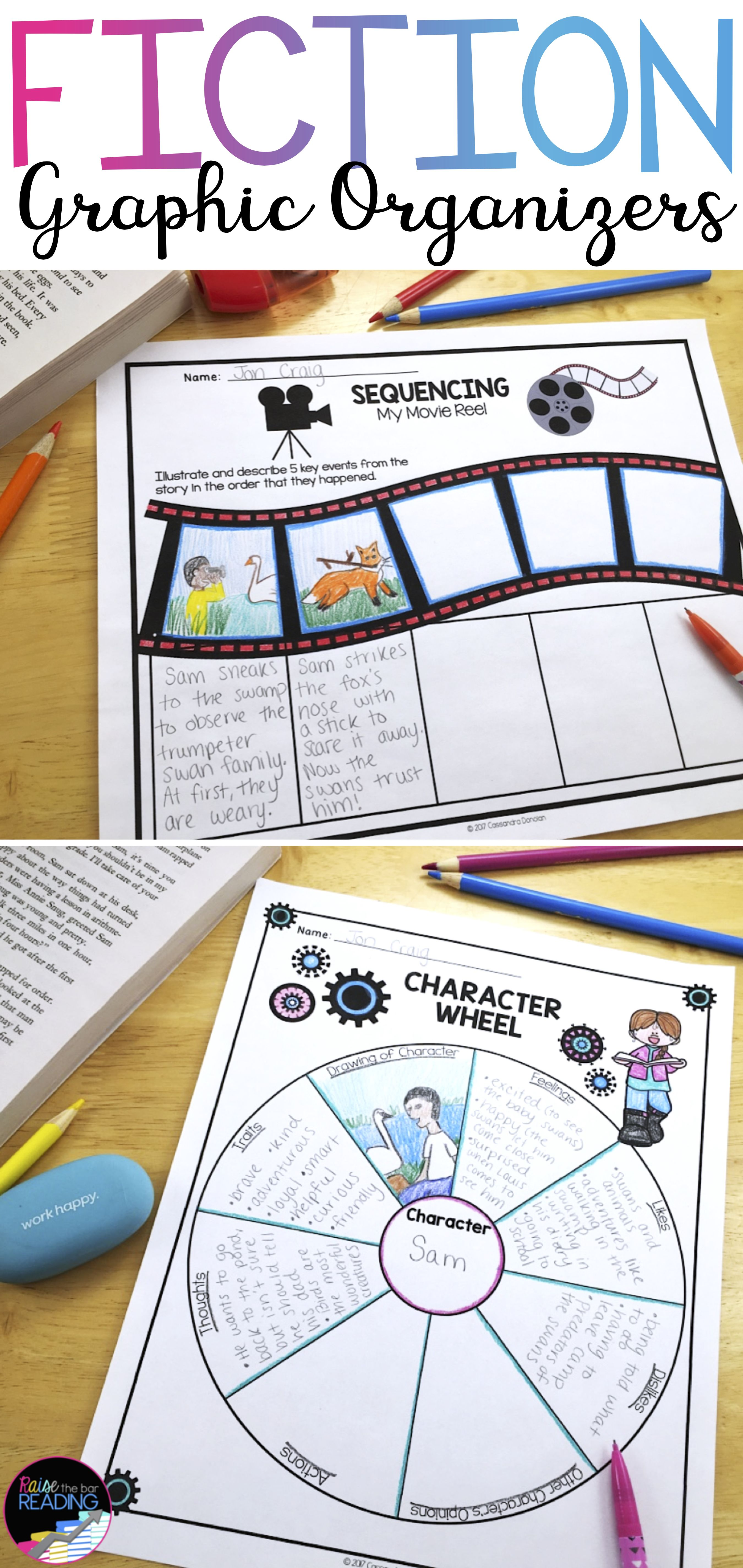 Reading Literature Or Fiction Graphic Organizers Reading Response Worksheets
