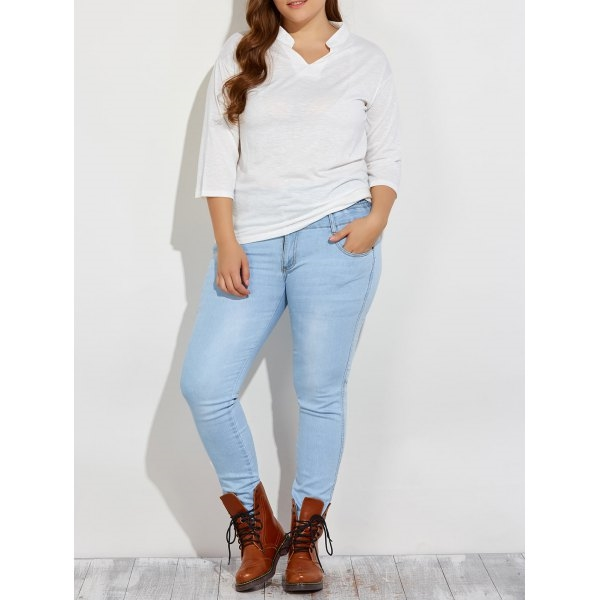 26.2$  Watch here - http://dis49.justgood.pw/go.php?t=201245102 - Plus Size High Waist Buttoned Jeans