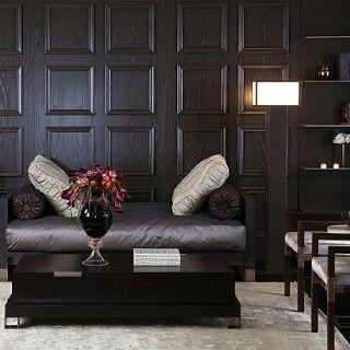 Black Timber And Grey Study Wood Panel Walls Wall Paneling Decor