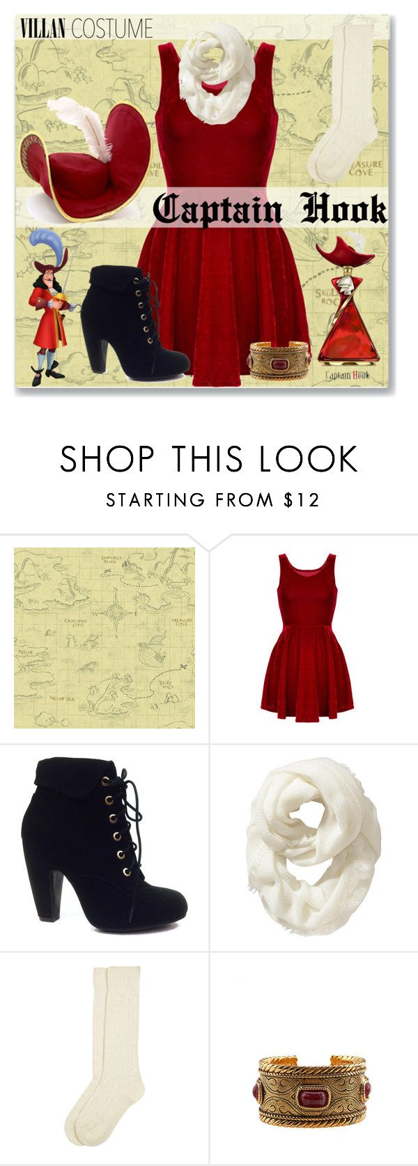 """Simple Captain Hook"" by astriddt ❤ liked on Polyvore featuring York Wallcoverings, Bamboo, Old Navy, Monsoon, Chanel, Halloween, 60secondstyle and villaincostume"