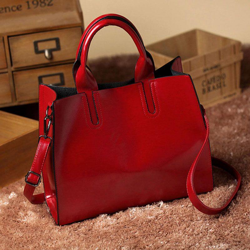 da671561a4 Leather Bags Handbags Women Famous Brands Big Casual Women Bags ...