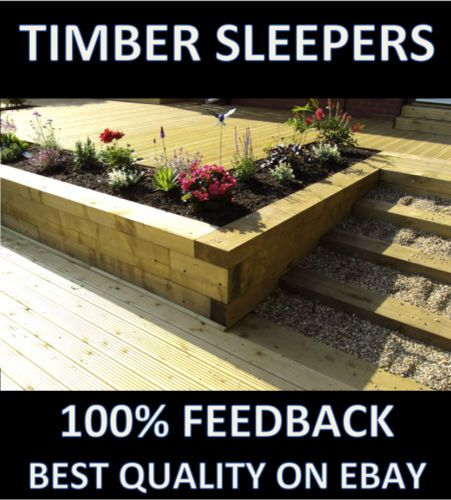 New Railway sleepers 2.4 m Tanalized Green