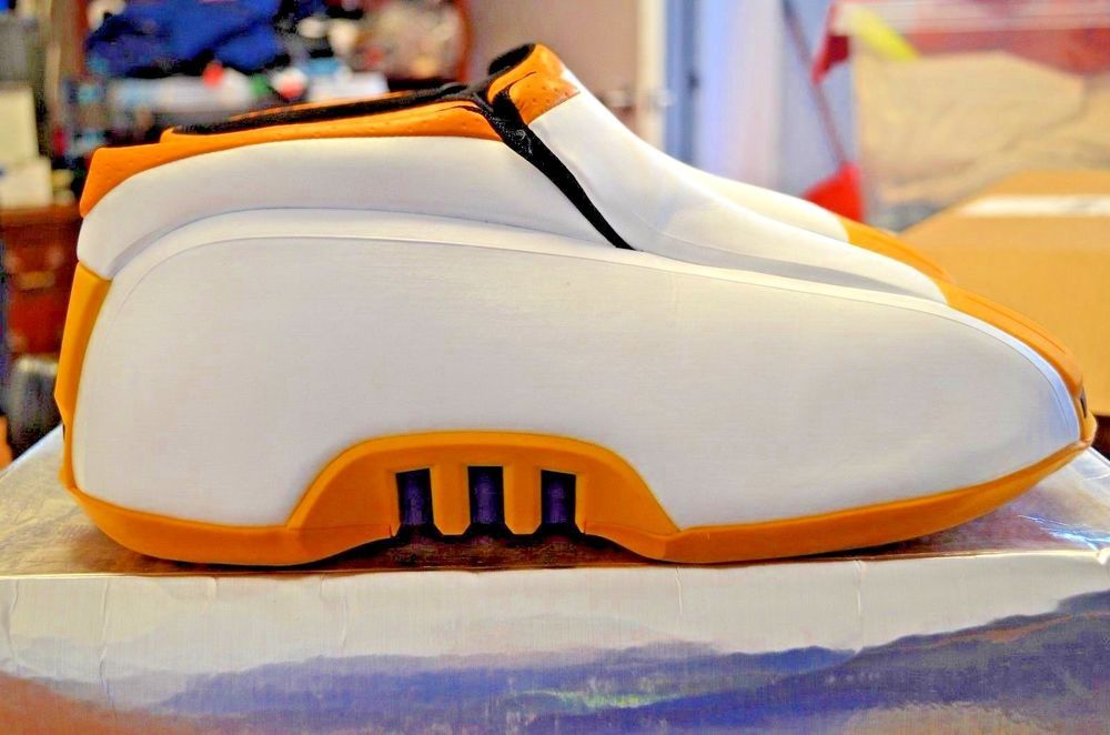 Men's Adidas Kobe 2 White Yellow