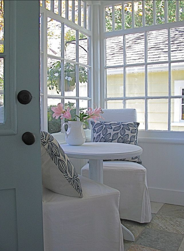 closed in porch  home small sunroom kitchen sitting areas