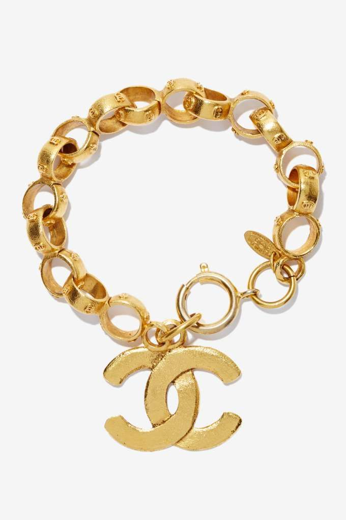 Vintage Chanel Gold Chain Bracelet Gold Jewelry Pinterest