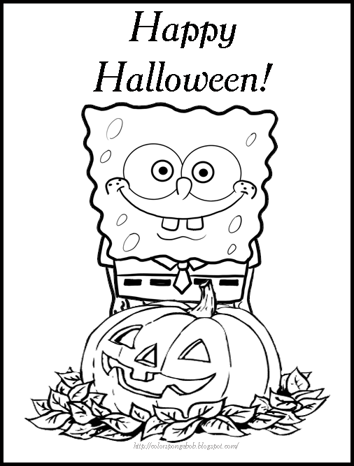 Spongebob Coloring Pages Halloween Coloring Pages Halloween Coloring Book Free Halloween Coloring Pages