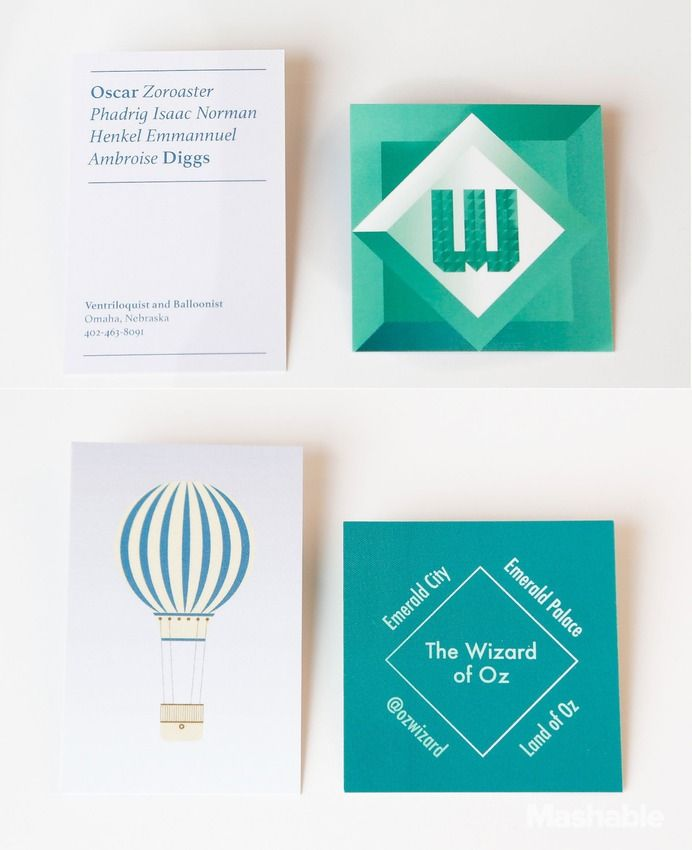 Business Cards Designed for the Alter-Egos of Fictional Characters ...