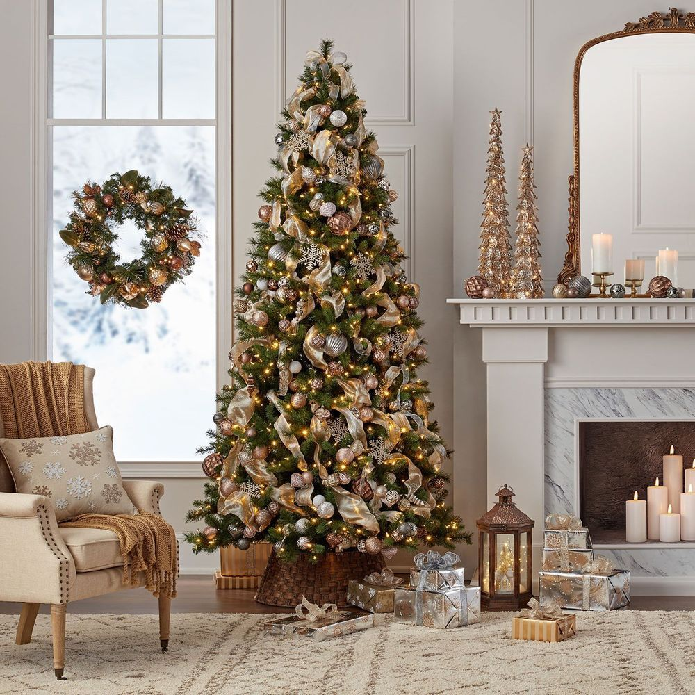 Christmas Tree 7 5 Foot Changing White Or Multi Color Virginia Pine 5 Star Item Member Christmas Tree Inspiration Flocked Christmas Trees Diy Christmas Lights