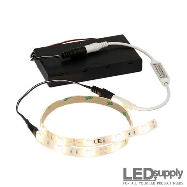 battery operated flexible led light strip battery. Black Bedroom Furniture Sets. Home Design Ideas