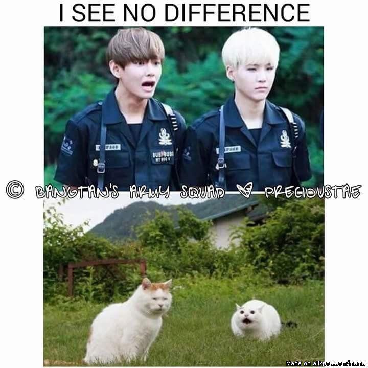 Yup no difference at all.... #bts #V #suga Credit: to owner