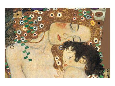 Verrassend Moeder en Kind, ca. 1905 Premium giclée print van Gustav Klimt bij YE-54