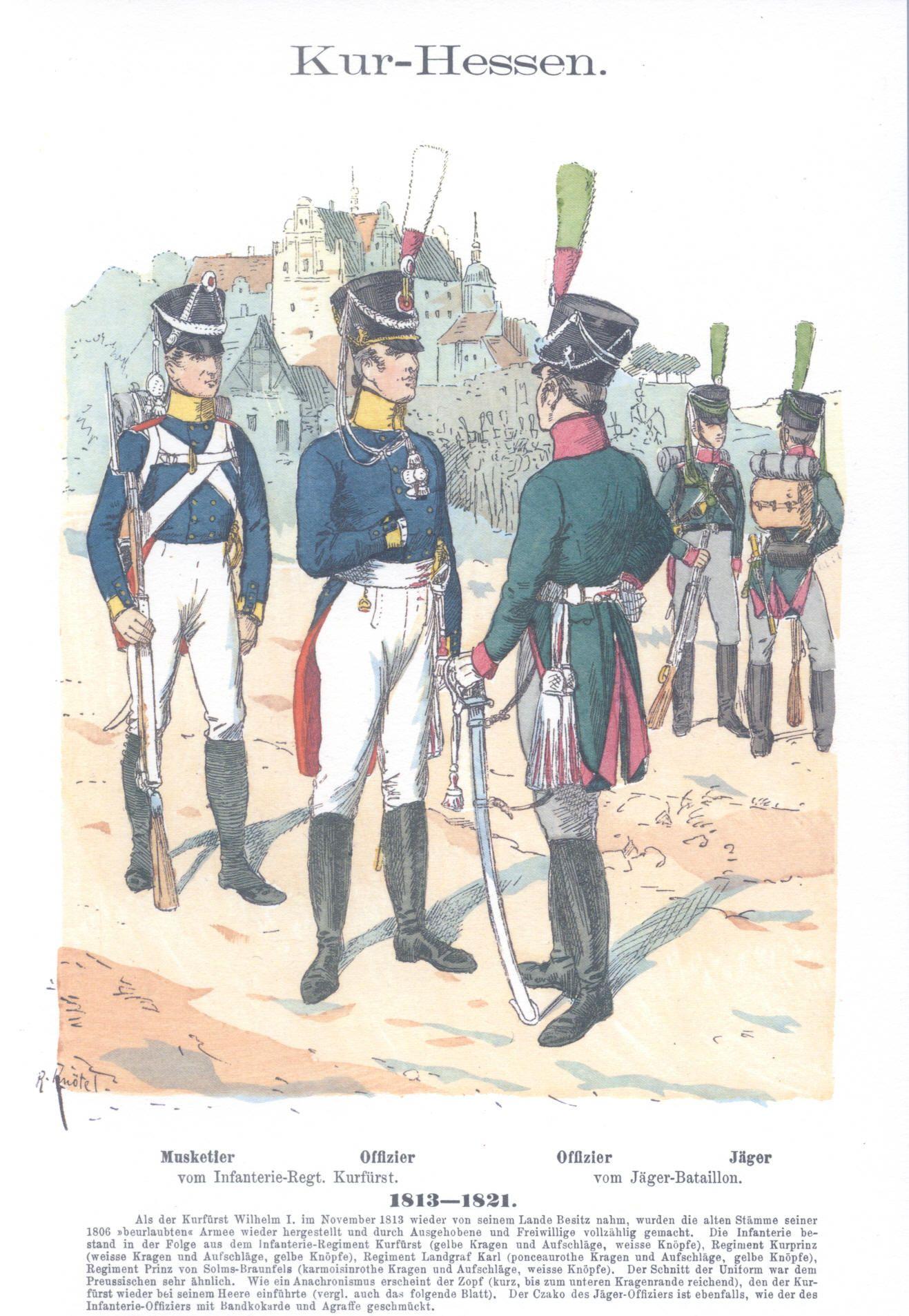 Vol 04 - Pl 14 - Hessen-Kassel. Infanterie. 1812-1820.
