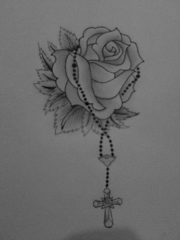 Rosary With Rose Tattoo Rosary Tattoo Rosary Bead Tattoo Heart Tattoo Wrist