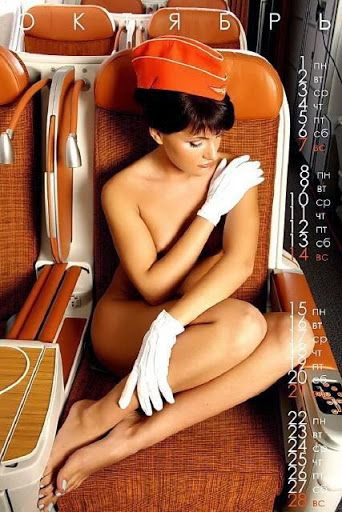 Nude flight attendant calendar photo 845